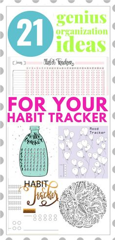 Habit Trackers | If you're looking for easy habit trackers to copy, this collection of tutorials will inspire you! Perfect for health and mental health, we're sharing our favorite habit trackers! #habittracker #habittrackerbujo #bulletjournal #health #mentalhealth