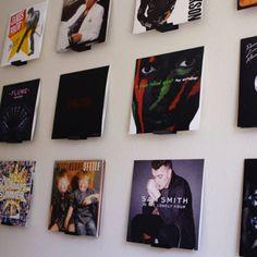 how to display vinyl records wall art ; Vinyl Records Decor, Record Decor, Vinyl Record Display, Record Wall Art, Framed Records, Vinyl Wall Decals, Wall Stickers, Music Wall, Vinyl Storage