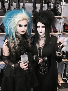 Goblin queen and Its black Friday 2 of my faves Goth Beauty, Dark Beauty, Gothic Girls, Gothic Lolita, Dark Fashion, Gothic Fashion, Amphi Festival, Punk Makeup, Gothic People