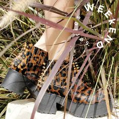 #WeekendSeries #ShoeOfTheDay #NANDA #SarkanyREvolution #NewCollection #FW15 #AnimalPrint #studs http://www.rickysarkany.com/nanda.html