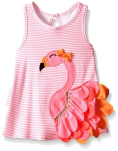 Mud Pie Little Girls Flamingo Dress #ad *This is just flipping adorable