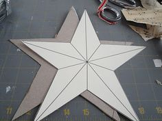 5 pointed star template | Turn the star over to the backside and line the star template up to it ...