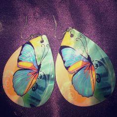 Butterfly earrings Handmade butterfly earrings Jewelry Earrings