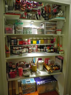 New pantry dedicated solely to baking and decorating supplies!