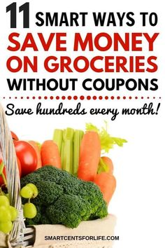Want to reduce your grocery budget? Check out these clever hacks to save money on groceries without coupons! 11 money saving tips that will make a big difference in your budget! Cut your grocery bill with these tips on How to save money on groceries. Money Saving Meals, Money Saving Challenge, Save Money On Groceries, Ways To Save Money, Cost Saving, Frugal Living Tips, Frugal Tips, Frugal Meals, Freezer Meals