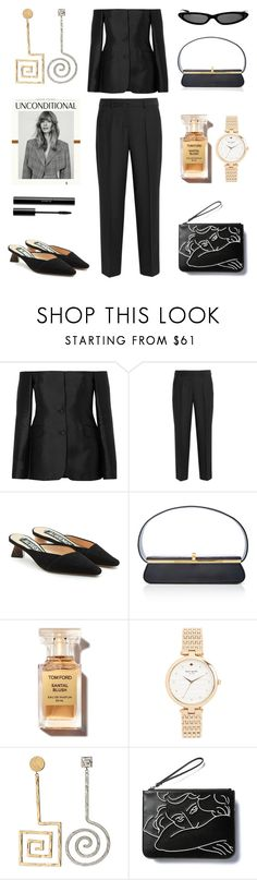 """Unbenannt #1262"" by fashionlandscape ❤ liked on Polyvore featuring Gabriela Hearst, Boutique Moschino, Jacquemus, Kate Spade and shu uemura"
