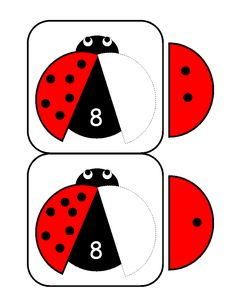 ladybugs math activities printables - The best crafts The best crafts Numbers Kindergarten, Kindergarten Math Activities, Math Numbers, Kindergarten Worksheets, Math Games, Counting Activities For Preschoolers, Math For Kids, Math Centers, Prints