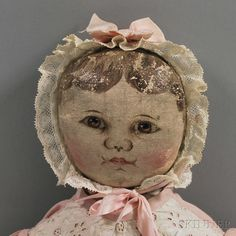 Columbian Painted Cloth Doll | Sale Number 2654M, Lot Number 58 | Skinner Auctioneers