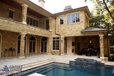 The Chateau Back Porch by Tampa New Home Builders Alvarez Homes