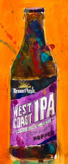 West Coast IPA by Green Flash Brewing Co. CALIFORNIA by dfrdesign