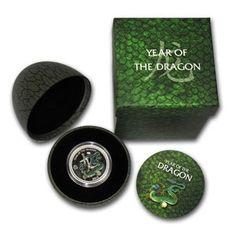 2012 1/2 oz Silver Niue $2 Pearl Dragon in Dragons Egg Case