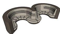 3D Model of SOFA EXEDRA