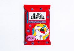 Brand New: New Logo and Packaging for Fellow Creatures by Classmate Studio Dairy Free Chocolate, Vegan Chocolate, Brand Identity Design, Branding Design, Organic Supermarket, Chocolate Brands, White Chocolate Raspberry, Chocolate Packaging, Article Design