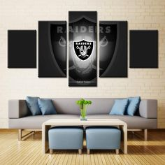 Oakland Raiders Wall Art  #canvas #football #nfl #wall #college #sport #art High Quality Canvas Wall Art of your Favorite Teams