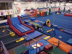 My dream gym 😍 Toddler Gymnastics, Gymnastics Room, Preschool Gymnastics, Gymnastics Equipment, Cheer Coaches, Cheer Mom, Kids Gym, Exercise For Kids, Preschool Room Layout
