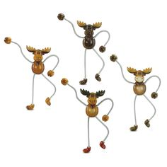 Puzzled Moose Springy Magnets (Set of 4) (Size 6L x 5 W x 3 H) Multi (Plastic)  sc 1 st  Pinterest & Moose 12-Piece Woodland Dinnerware Set | Wild Wings | Kitchen ...