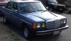 My first diesel.  1983 Mercedes 300D Turbodiesel.  Lapis Blue
