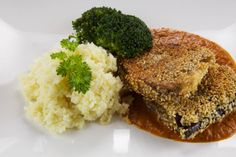 Cheese-Filled and Sesame Seed-Breaded Eggplant
