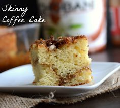 Skinny Coffee Cake - The Realistic Nutritionist @Claire | The Realistic Nutritionist