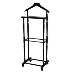 MegaHome Espresso Men Suit Valet Stand with Suit Hanger-F2014 - The Home Depot