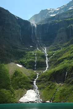 There is a 15 kilometer hike to reach (each way!). Beaver Chief Falls, Glacier NP, Montana