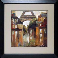 North American Art 'Paris Late Summer I' by Silvia Vassileva Framed Painting Print