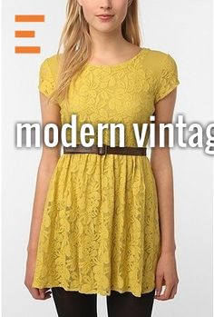 yellow and lace!