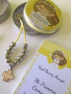souvenirs denario + lata personalizada + estampita
