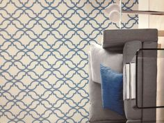 Blue geometric wallpaper