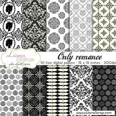 Free digital paper pack – Only Romance Set - LianaScrap Free Digital Scrapbooking, Digital Scrapbook Paper, Digital Paper Freebie, Scrapbook Pages, Web Design, Vintage Paper, Vintage Clip, Printable Paper, Shabby Chic
