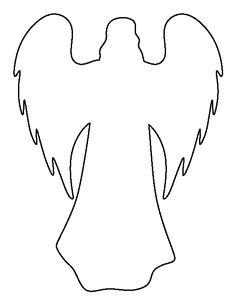 Angel pattern. Use the printable outline for crafts, creating stencils, scrapbooking, and more. Free PDF template to download and print at http://patternuniverse.com/download/angel-pattern/