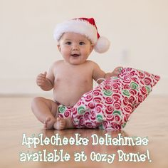 Limited Edition AppleCheeks Delishmas available for Christmas at Cozy Bums!