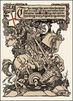 """St. George and the Dragon""  big tattoo"