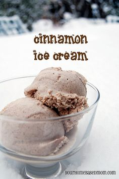 Simple cinnamon ice cream recipe. I make this all of the time to compliment pies and cobblers. So yummy!