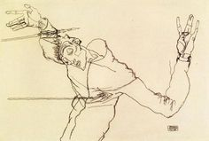 Egon Schiele, Self-portrait as Saint Sebastian, 1914-15