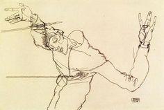 Egon Schiele, Self-portrait as Saint Sebastian, 1914-15