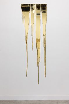 "Gold "" Sean Kelly at Art Basel in Hong Kong Photo: © Mark Blower & Ocula Gold Drip, Gold Aesthetic, Kintsugi, Installation Art, Oeuvre D'art, Contemporary Art, Contemporary Sculpture, Abstract Art, Pottery Barn"