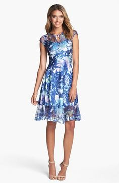 Komarov Print Chiffon Dress  Pretty color but needs sleeves. If I could just get the body when buying the dress. :)