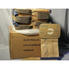 100 electrolux 4 ply canister vacuum sweeper bags