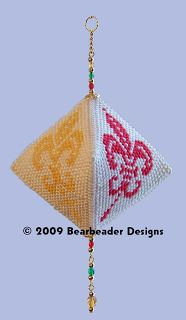 Plastic canvas 3-dimensional ornament #plasticcanvas