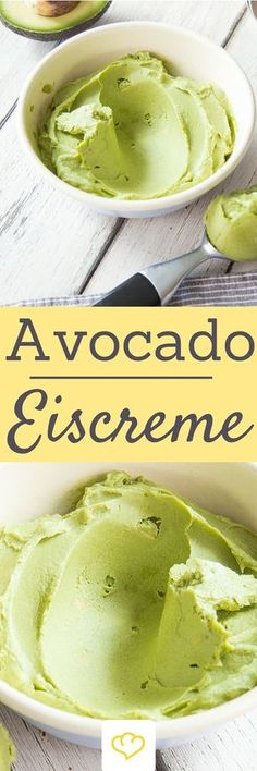 - Cremiger geht's nicht: Veganes Avocadoeis mit Kokosmilch Vegan avocado ice cream – creamier& not going! The ice cream for all avocado worshipers! Avocado Ice Cream, Vegan Ice Cream, Avocado Toast, Coconut Cream, Coconut Milk, Coconut Sorbet, Avocado Recipes, Fruit Recipes, Sweet Recipes