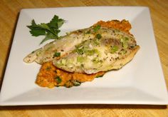 Tilapia with Sun Dried Tomato Pesto *tilapia *sun dried tomato sauce ...