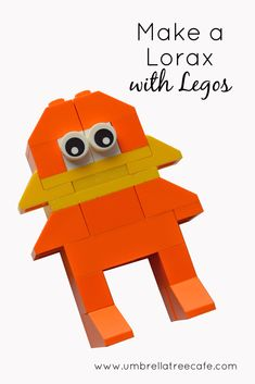 We love Dr. Seuss and Legos. Build your own Lego Lorax to go along with the story.