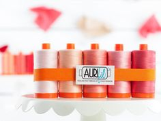 Aurifil 50wt Cotton Thread Tickled Pink Collection - https://diygods.com/products/aurifil-50wt-cotton-thread-tickled-pink-collection/