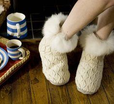 alpaca fur slipper boots by samantha holmes