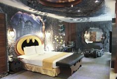 Batman themed hotel room