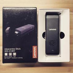Toimistolla testissä Lenovon uusi #tikkupc #ideacentrestick300 #Lenovo #stickpc