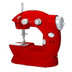 Beautyko Red Sewing Machine - Beyond the Rack.   $35 sale // very handy for small jobs and repairs (think, Halloween / school pageant / changing the length of those sale curtains)