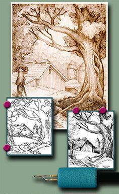 Free Online Pyrography, Wood Burning Projects and Step by Step Instructions by L S Irish | LSIrish.com