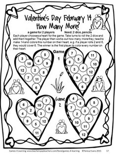 NO PREP game from Valentine's Day Games Second Grade by Games 4 Learning $